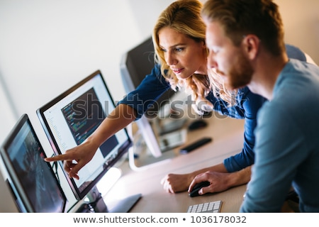 woman computer support stock photo © smithore
