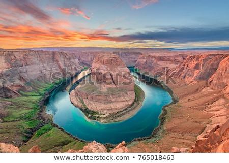 hoefijzer · Arizona · afbeelding · top · naar · beneden · te · kijken - stockfoto © gregory21