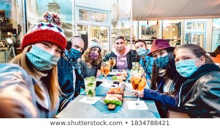 winter  people fun and ski Stock photo © dotshock