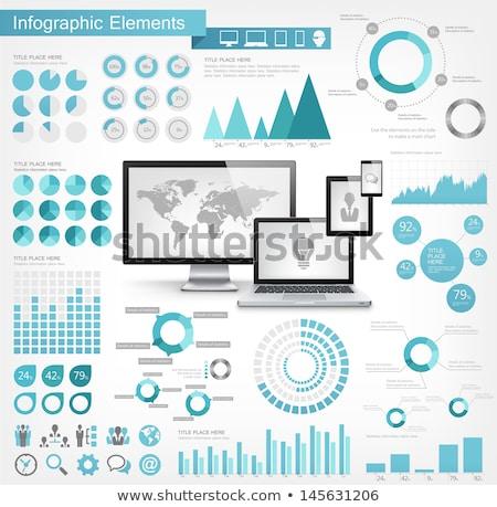 infographic elements for cloud computing stock photo © davidarts