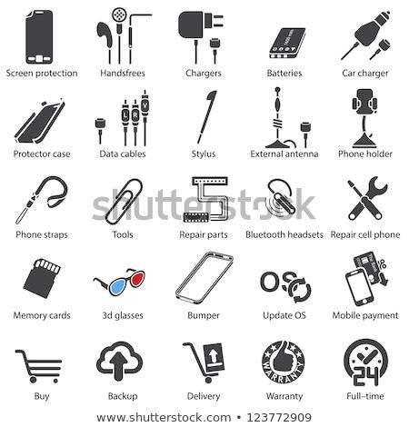 Bluetooth гарнитура сотового телефона Сток-фото © shutswis