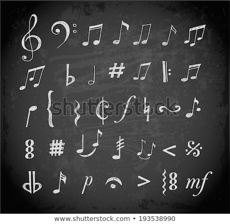 Music notes on blackboard Stock photo © stevanovicigor
