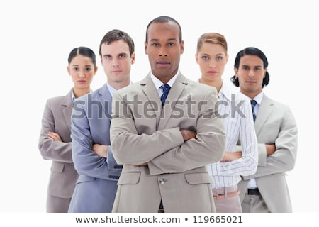Serious businesswoman standing up against a white background Stock photo © wavebreak_media