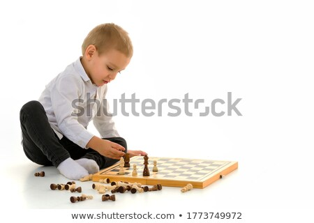 Chess white background  Stock photo © MONARX3D