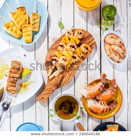 mediterranean fishskewers and lobster stock photo © ozgur