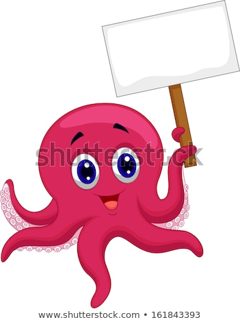 Tentacle in Sea with Blank Sign  Stock photo © AlienCat