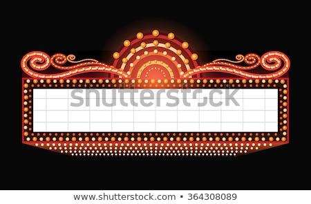 Film Zelt Zeichen Theater eleganten Stock foto © Lightsource