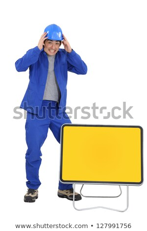 Tradesman witnessing an accident Stock photo © photography33