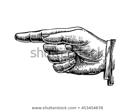 Cartoon Hand - Fingers Pointing - Vector Illustration Stock photo © indiwarm