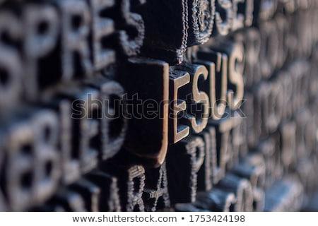Levelek família ajtó bronz Barcelona Spanyolország Stock fotó © dinozzaver