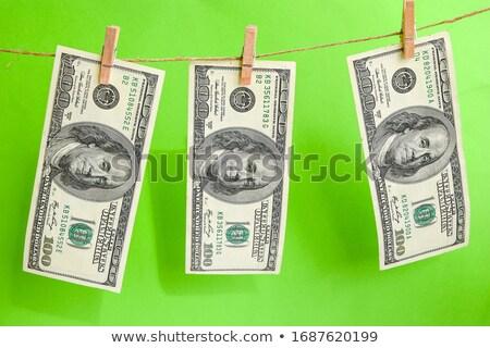 dollar · wasknijper · lijn · kleding · financieren · bank - stockfoto © leonardi