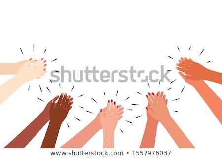 woman hands clapping Stock photo © kyolshin