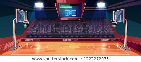kosárlabdapálya · szalag · kosárlabda · grafikus - stock fotó © squarelogo