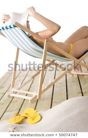 jonge · topless · vrouw · lichaam · touw · portret - stockfoto © aikon