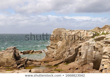 impressionante · costa · rosa · praia · natureza · mar - foto stock © capturelight