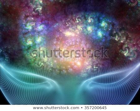 сюрреалистичный фрактальный вихревой аннотация посмотреть Сток-фото © ArenaCreative