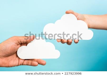 Stok fotoğraf: Iki · bulutlar · gökyüzü · bulut