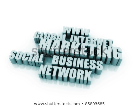 Internet marketing parole business internet abstract tecnologia Foto d'archivio © jezper