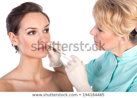 美 · 女性 · 医療 · 医師 · 白 - ストックフォト © nobilior