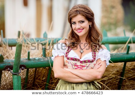 octoberfest bavarian woman stock photo © lordalea