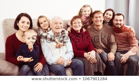 Extended family posing,young child on focus Stock photo © get4net