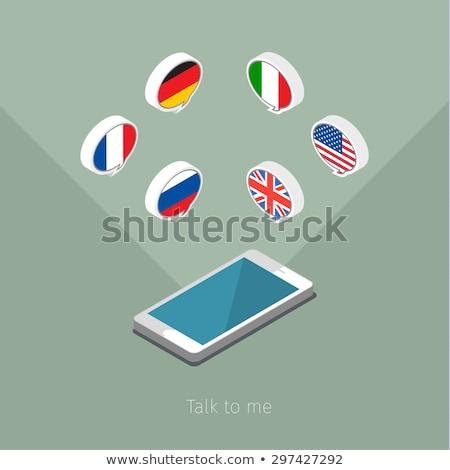 telefon · Franciaország · kéz · kommunikáció · retro · klasszikus - stock fotó © lirch