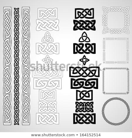 vector celtic ornamental knotwork frame Stock photo © odes