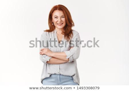 Attractive female portrait Stock photo © Anna_Om