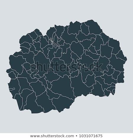 black macedonia map stock photo © volina