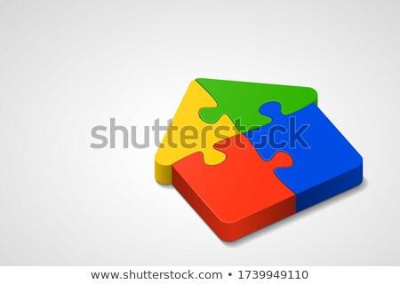 home icon on multicolor puzzle stock photo © tashatuvango