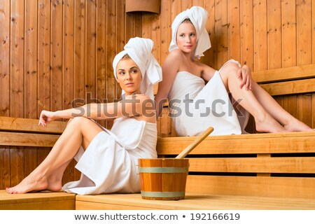 sauna wellness   female friends in spa stock photo © kzenon