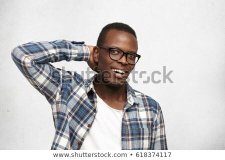 młodych · człowiek · biznesu · w · górę · ręce · za - zdjęcia stock © feedough
