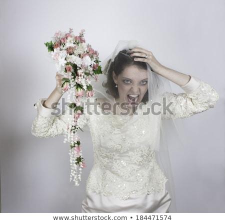 Stockfoto: Bruid · mooie · trouwjurk · mooie