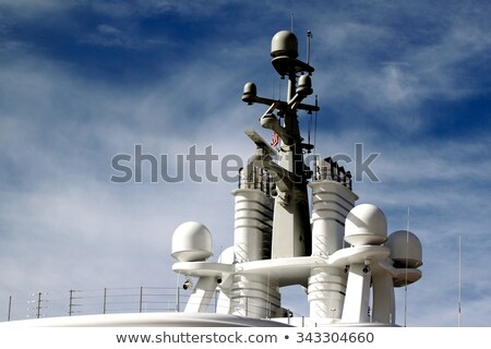 Ship antennas and navigation system Stock photo © BigKnell