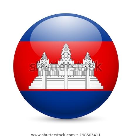 Botão Camboja mapa país mapas bandeira Foto stock © Ustofre9