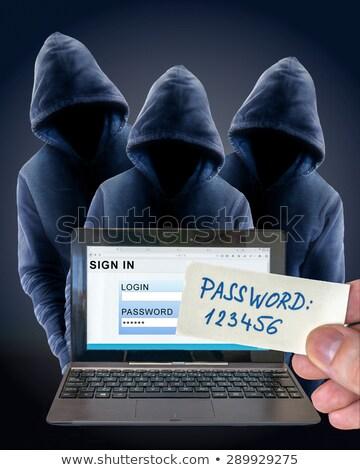 Spy giovani executive ufficio internet Foto d'archivio © nenetus