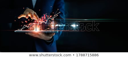 digital marketing on dark background stock photo © tashatuvango