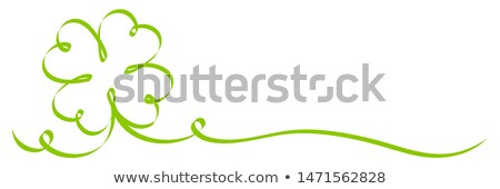 Abstract shamrock with ribbon Stock photo © Hermione