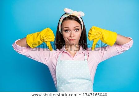 Retrato jovem empregada polegar para cima Foto stock © AndreyPopov