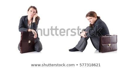 Becsődölt üzletasszony izolált fehér iroda arc Stock fotó © Elnur