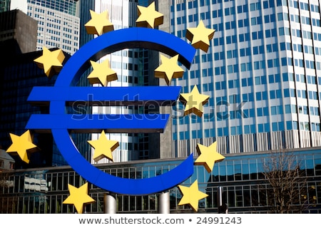 Euro symbol in front of the European Central Bank in Frankfurt  Stock photo © meinzahn