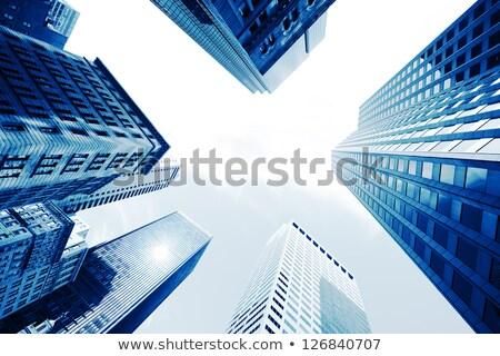 Arranha-céus abaixo escritório casa edifício Foto stock © m_pavlov