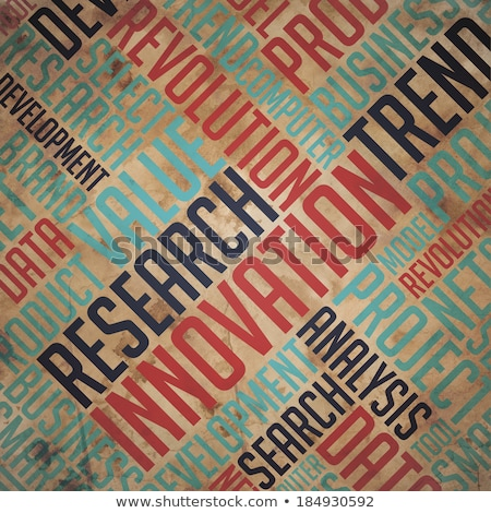 Foto stock: Research Innovation - Vintage Wordcloud
