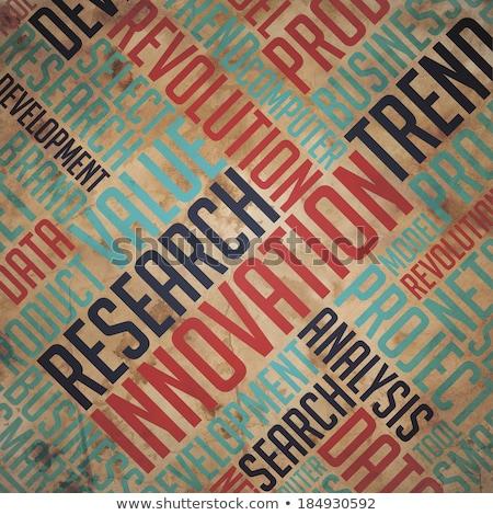Foto d'archivio: Research Innovation - Vintage Wordcloud