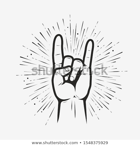 Foto stock: Mano · rock · rodar · signo · vector · eps10