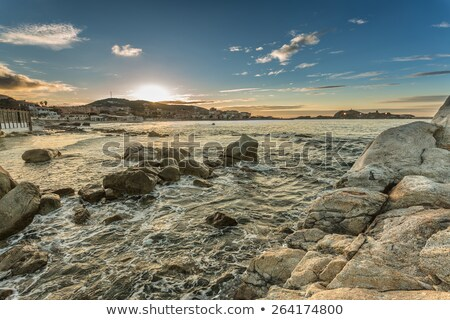 Sunset over Ile Rousse, Corsica Stock photo © Joningall