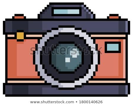 Stock photo: Vintage background with retro photo camera