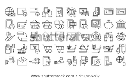 Flat design e-commerce icons Stock photo © Elmiko