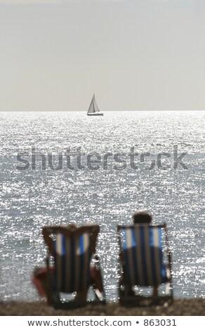 закат · Восход · горизонте · синий · Средиземное · море - Сток-фото © xuanhuongho