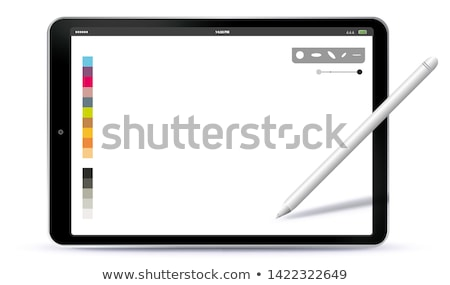 black drawing tablet with pen stock photo © petrmalyshev